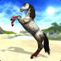 Piękny biały koń w Star Stable, grze o koniach